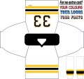 HOCKEY JERSEY LEAGUE BOSTON BLACK