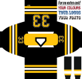 Custom Black & Telly Hockey Jersey