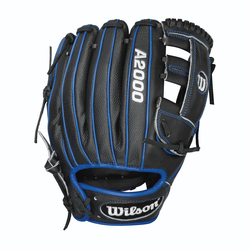 A2000 Superskin Black/Blue Dual Accents Infield 11.5""