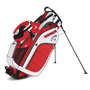 Callaway Hyper Lite 5 Stand Bag - Red/White/Charcoal