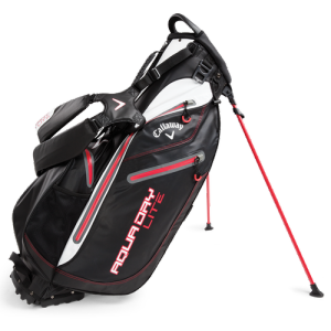 Callaway Aqua Dry Lite Stand Bag - Black/White/Red