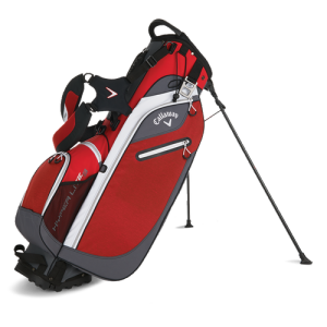 Callaway Hyper Lite 3 Stand Bag - Red/Charcoal